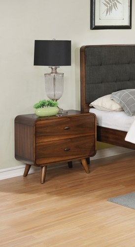 Robyn Nightstand - Dark Walnut