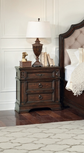 Ilana 3-Drawers Nighstand - Antique Java