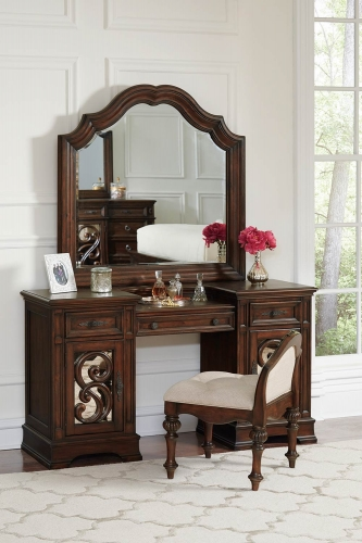 Ilana Vanity Desk Set - Antique Java