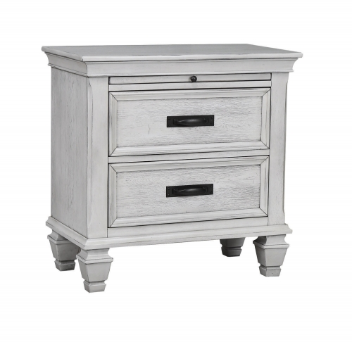 Liza Nightstand - Antique White