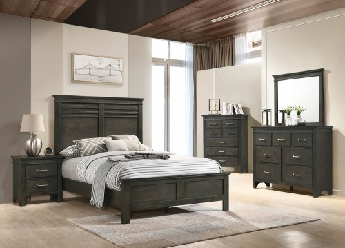 Newberry Bedroom Set - Bark Wood