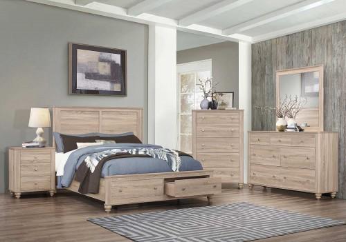 Wenham Storage Bedroom Set - Natural Oak