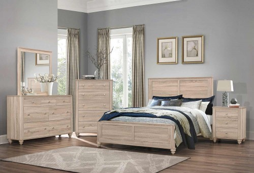 Wenham Bedroom Set - Natural Oak