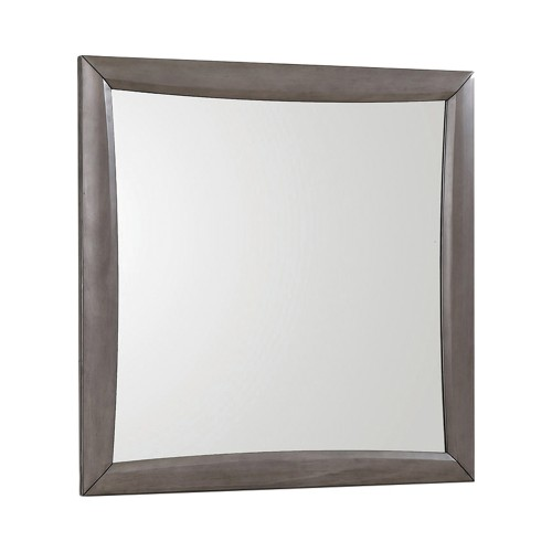 Phoenix Mirror - Coco Grey/Black Leatherette