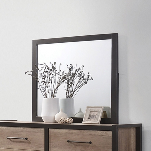 Edgewater Mirror - Weathered Oak