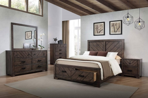 Lawndale Bedroom Set - Dark Brown