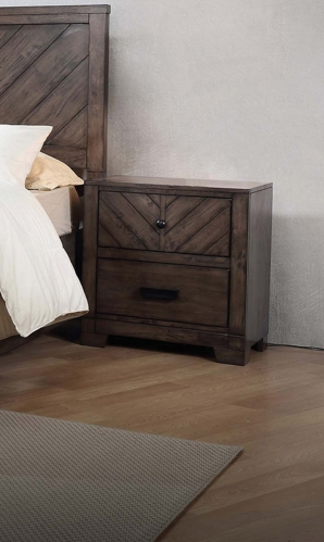 Lawndale Nightstand - Dark Brown