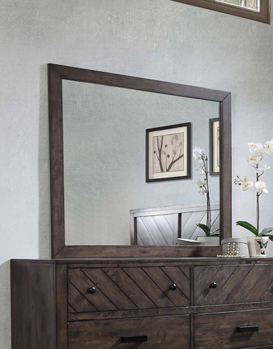 Lawndale Mirror - Dark Brown