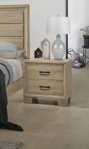 Vernon Nightstand - White Washed Oak