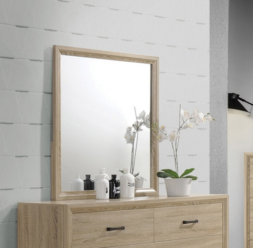 Vernon Mirror - White Washed Oak