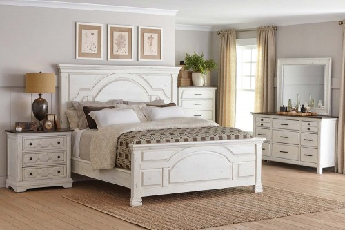 Celeste Bedroom Set - Rustic Latte/Vintage White