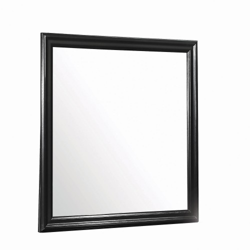 Louis Philippe Mirror - Black