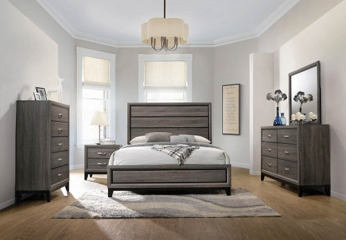 Watson Bedroom Set - Grey Oak/Black