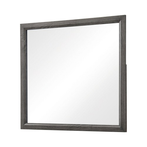 Watson Mirror - Grey Oak/Black