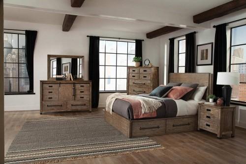Meester Storage Bedroom Set - Rustic Barn