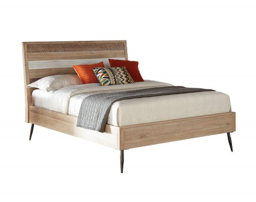 Marlow Bed - Rough Sawn Multi/Black Finish