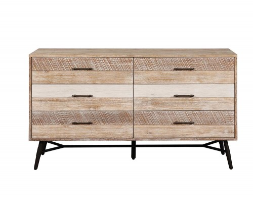 Marlow Dresser - Rough Sawn Multi/Black Finish