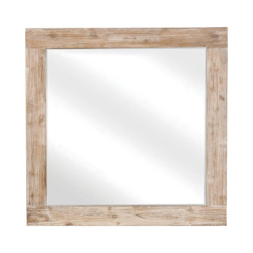 Marlow Mirror - Rough Sawn Multi/Black Finish