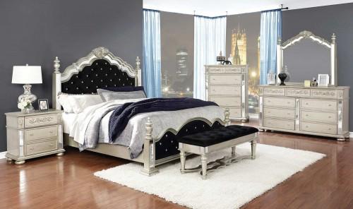 Heidi Bedroom Set - Metallic Platinum