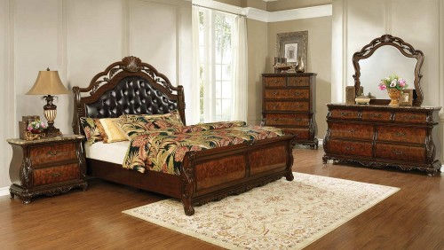 Exeter Bedroom Set - Dark Burl