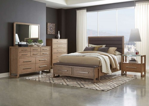 Smithson Storage Bedroom Set - Grey Oak