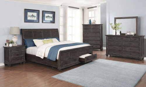 Atascadero Bedroom Set - Weathered Carbon