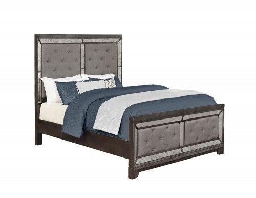 Morro Bay Bed - Caviar/Grey Fabric