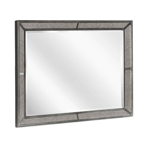Morro Bay Mirror - Caviar/Grey Fabric