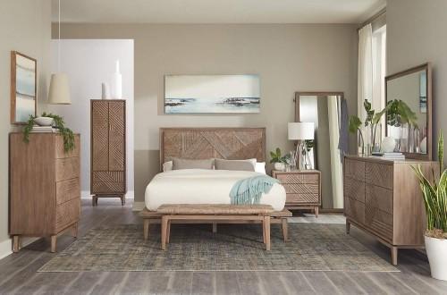 Vanowen Cedar Bedroom Set - Sandstone