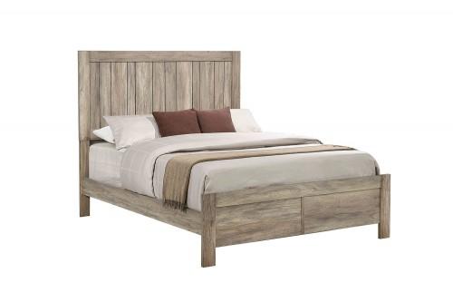 Adelaide Bed - Rustic Oak