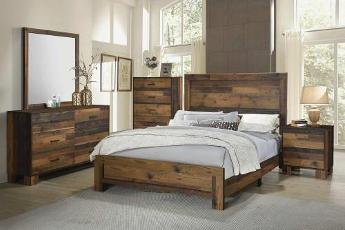Sidney Bedroom Set - Rustic Pine