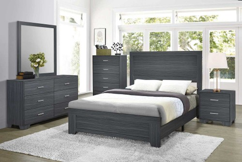 Julian Bedroom Set - Dark Grey Oak