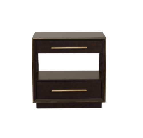 Durango Nightstand - Smoked Peppercorn