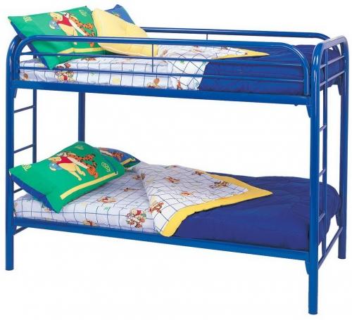 Coaster 2256B Twin-Twin Bunk Bed - Blue