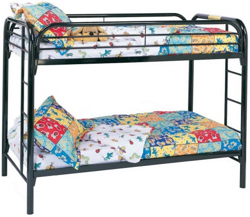 2256K Twin-Twin Bunk Bed - Black