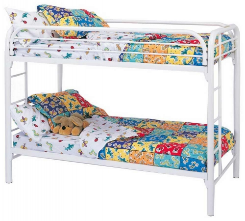 2256W Twin-Twin Bunk Bed - White