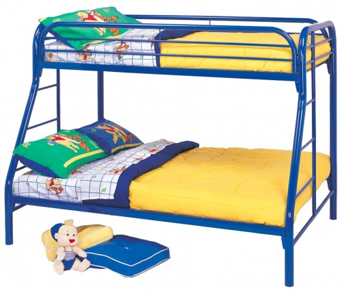 2258B Twin-Full Bunk Bed - Blue