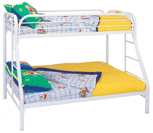 2258W Twin-Full Bunk Bed - White