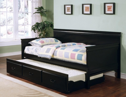 300036BLK Daybed with Trundle - Black