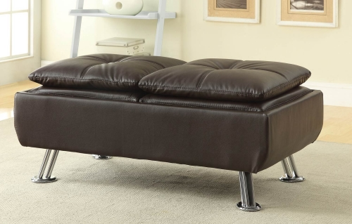 Dilleston Ottoman - Brown