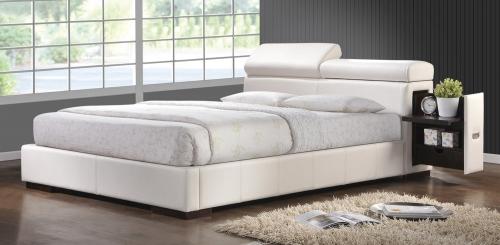 Maxine Platform Bed - White