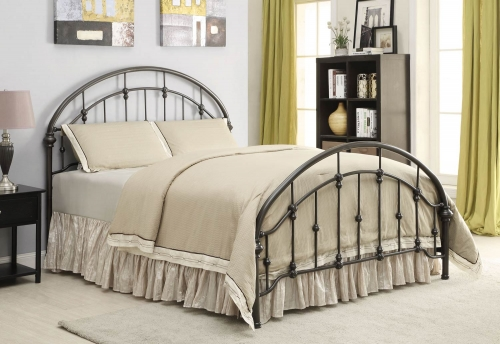 Maywood Metal Bed - Dark Bronze