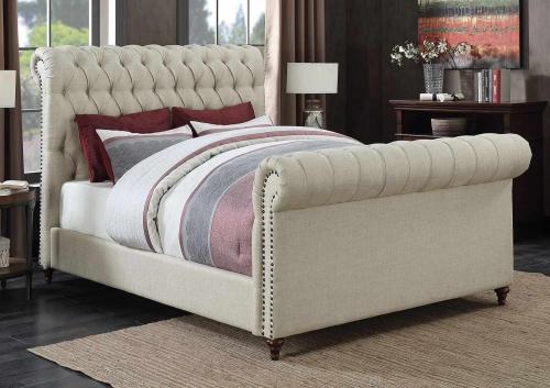 Gresham Bed - Beige