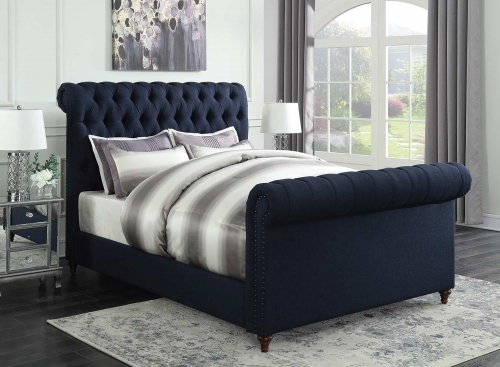 Gresham Bed - Navy Blue