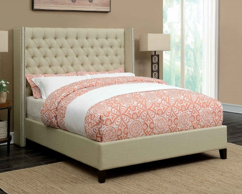 Benicia Bed - Beige
