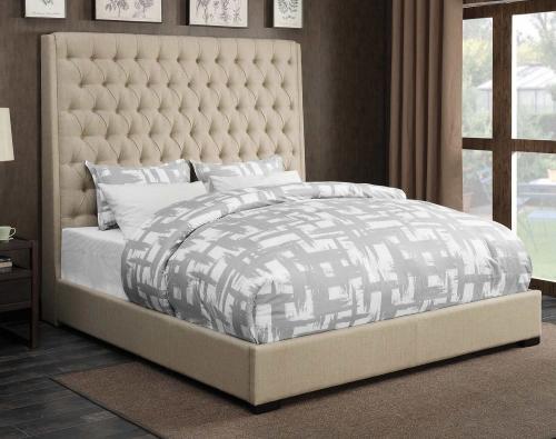 Camille Bed - Cream Fabric