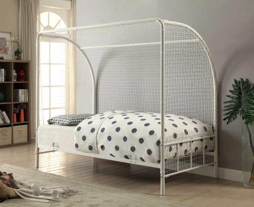 Bennette Twin Soccer Goal Platform Bed - White