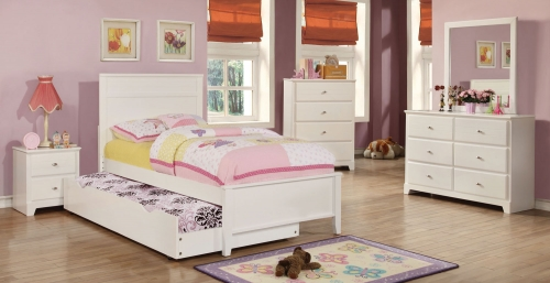 Ashton Platform Bedroom Collection - White