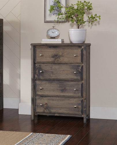 Wrangle 4-Drawer Chest - Gunsmoke
