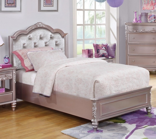 Coaster Caroline Bed - Metallic Lilac
